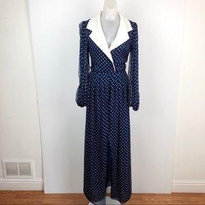 Oscar de la Renta Gathered polka-dot silk dress